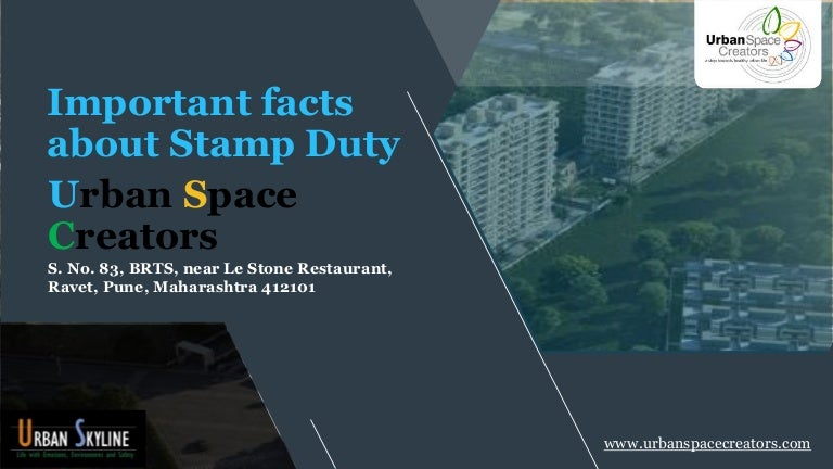 Important facts about stamp duty urban space creators