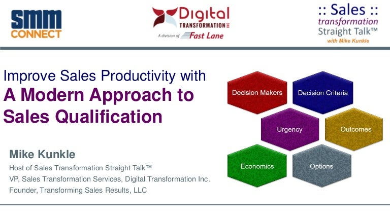 Improve Sales Productivity with Modern Sales Qualification