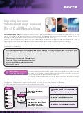 HCLT Brochure: Improving Customer Satisfaction through Increased First Call Resolution