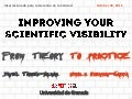 Improving your scientific visibility: From theory to practice