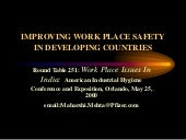 Improving workplace safety in developing countries