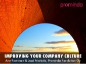 Improving your company culture - How to buy lean projects?