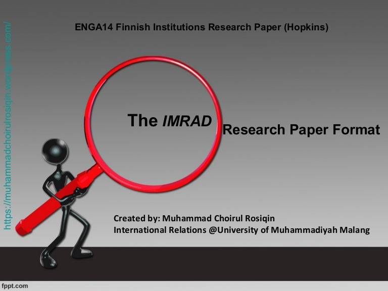imrad format examples Imrad has proven to be remarkable standard in scientific journals since the middle of the 20th century, especially in areas of biomedicine as published in public health journals the 6th edition of the apa publication manual recommends the imrad format for empirical studies.
