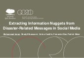 Extracting Information Nuggets from Disaster-Related Messages in Social Media