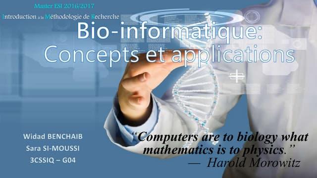 Bio-informatique et applications