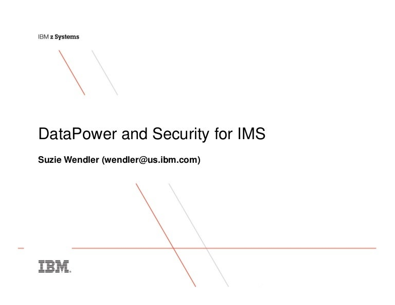 Ims DataPower and Security