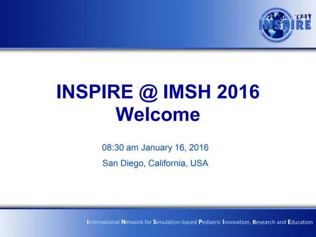 INSPIRE @ IMSH 2016