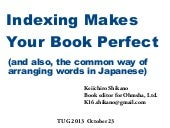 Index makes your book perfect