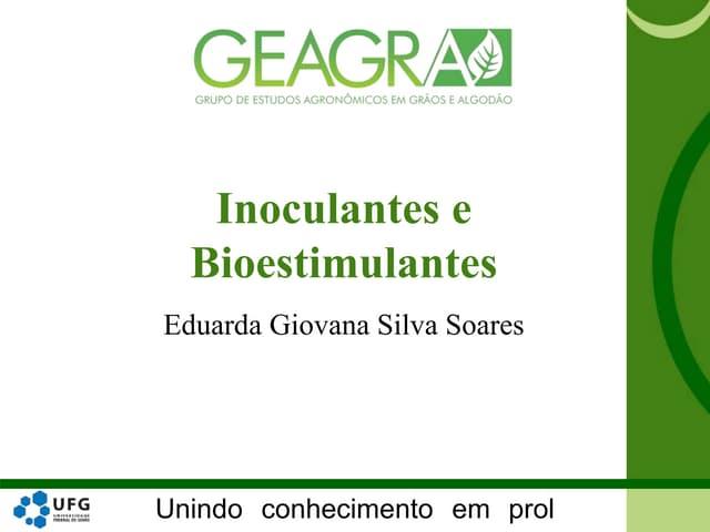 Inoculantes e Bioestimulantes