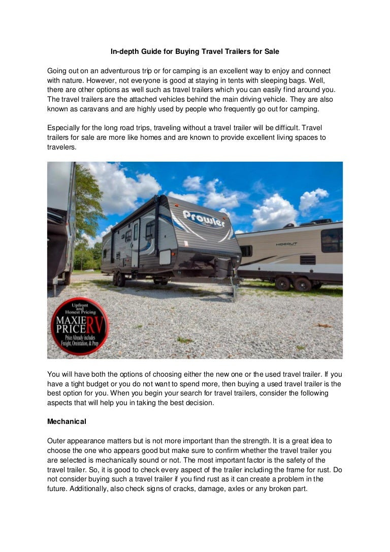 Used Rv For Sale In Ga >> In Depth Guide For Buying Travel Trailers For Sale In Ga