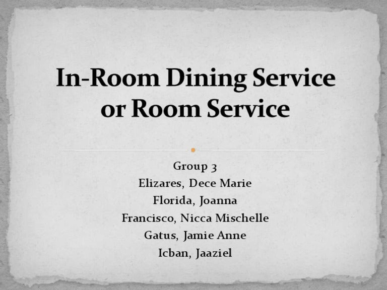 In Room Dining Service