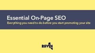 Essential On-Page SEO