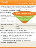 Inbound Marketing Content Workshop