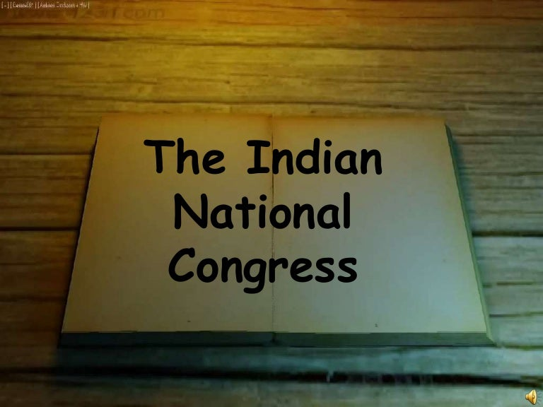 indian national congress objectives