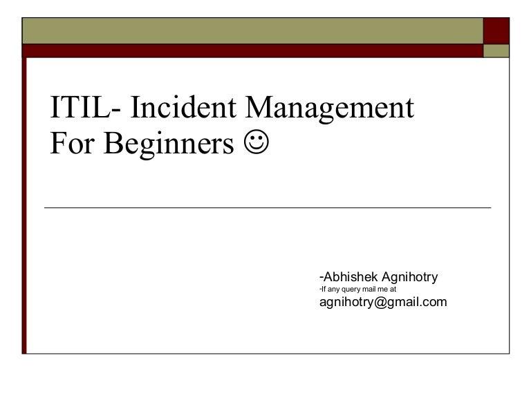 Itil- Incident Management