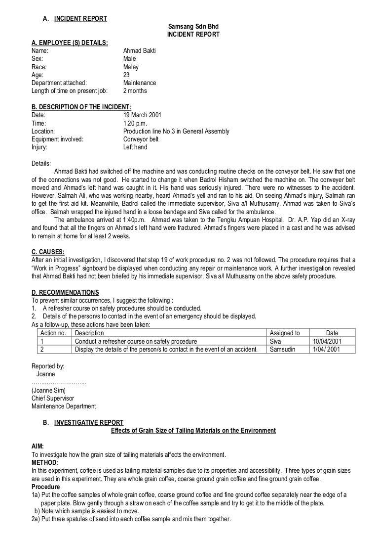 Report incident at work geccetackletarts report incident at work spiritdancerdesigns Images