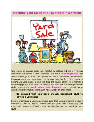 car yard sales