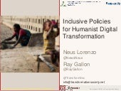 Inclusive Policies for Humanist Digital Transformation