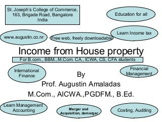 Income From House Property New 2008 09 Assessment Year