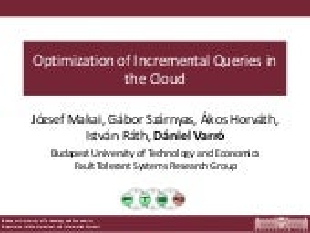Optimization of Incremental Queries CloudMDE2015