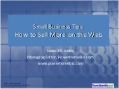 Small Business Tips: How to Sell More on the Web
