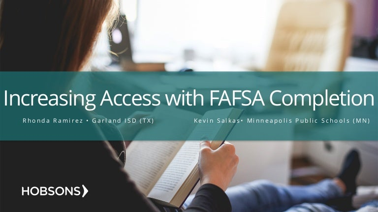 increasing college access with fafsa completion