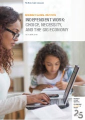 Independant work: Choice, necessity, and the gig economy, par McKinsey