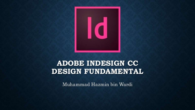Introduction to Adobe InDesign CC