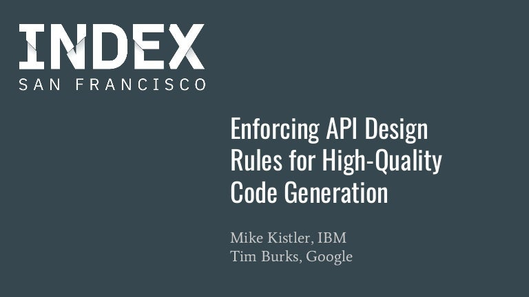 Enforcing API Design Rules for High Quality Code Generation