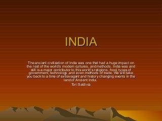 India Presentation Part 2
