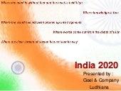 India 2020 (from  goel & company ludhiana)