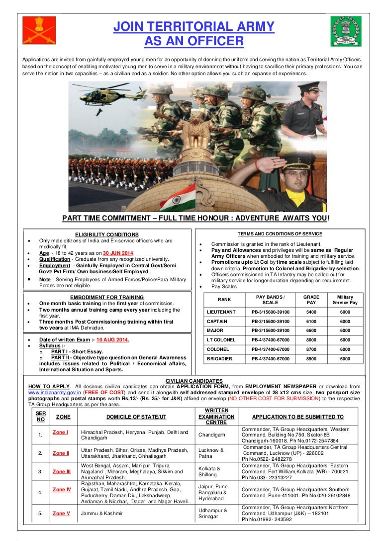 n army vacancies notification