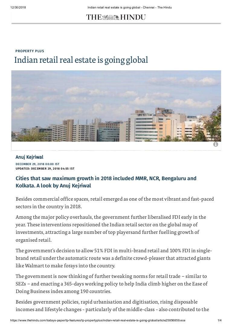 Indian Real Estate - 2019