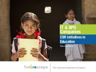 Indian IT Companies - CSR Initiatives in Education