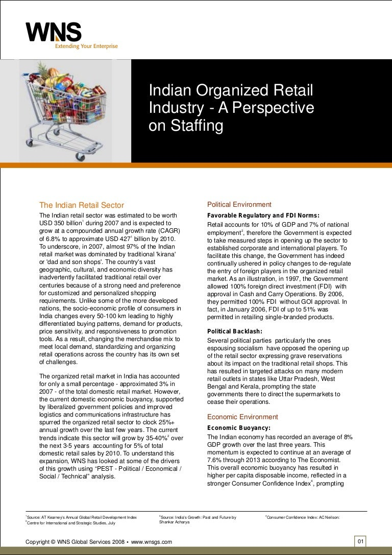 A Take On Indian Organized Retail Industry From Outsourcing Point Of