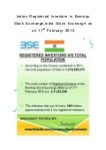 Indian #RegisteredInvestors in BombayStockExchange as on 11th February 2015