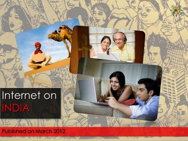 India on internet 2012