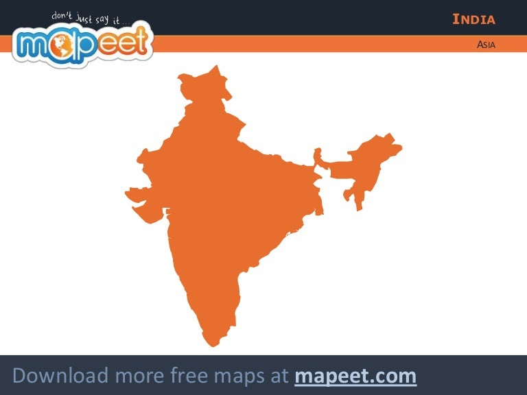 free editable map of india
