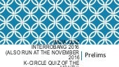 India Quiz Prelims With Answers (Interrobang 2016)