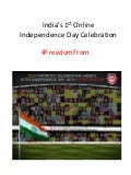 India's 1st online Independence Day Celebration
