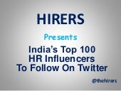 India's Top 100 HR Influencers To Follow On Twitter