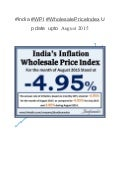 #India ‪#‎wpi‬‬‬ ‪#‎wholesale priceindex‬‬‬ update upto august 2015
