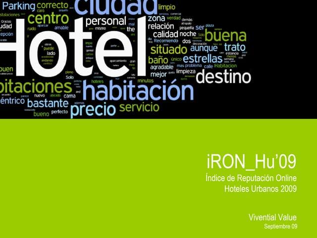 Indice de Reputacion Online Hoteles Urbanos 09 Vivential
