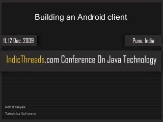 Building an Android client