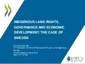 Indigenous rights, governance and economic development
