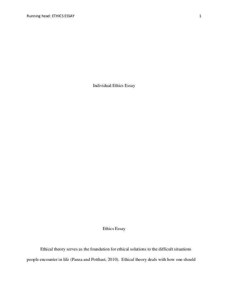 individual ethics essay