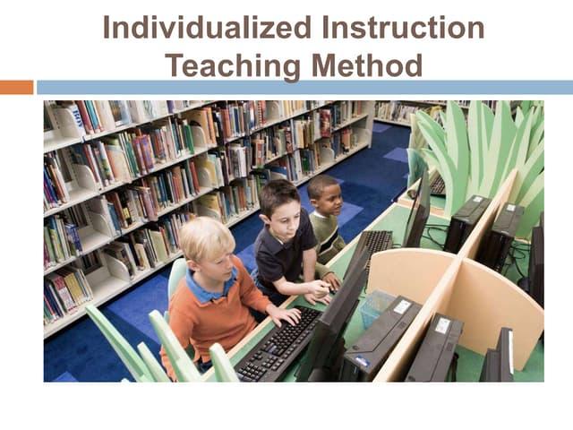 Individualized instruction teaching method