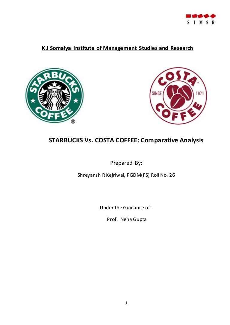 comparative analysis of starbucks vs costa coffee