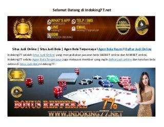 Agen Bola Resmi, Daftar Judi Online, Taruhan Bola Online Indoking77