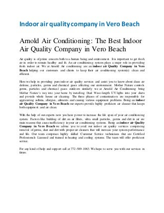 Indoor air quality company in vero beach